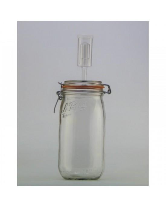 1.5 litre Le Parfait Fermenting Jar With Fermenting Airlock Lid (1.5 litre super fermenting jar)