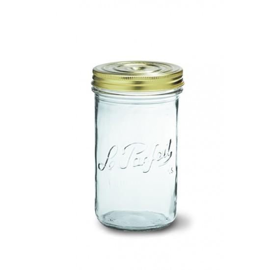 6 x 1000ml (100ml lid) Le Parfait Familia Wiss Preserving Mason Jars (LPFT10006)