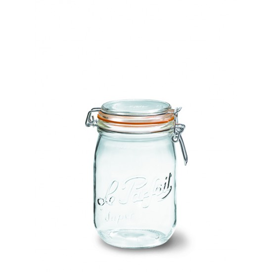 6 x 1000ml Le Parfait SUPER jar with seal (LPSJ10006)