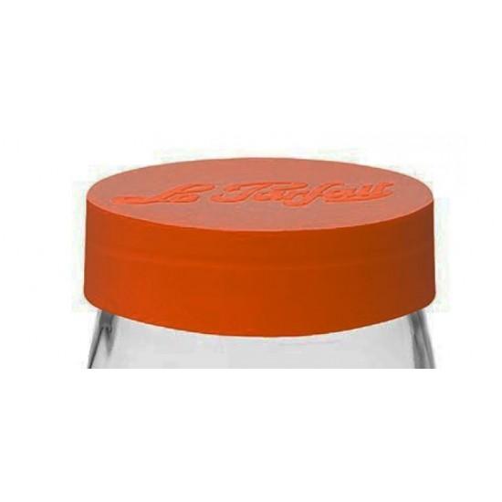 ORANGE Screwtop Lid to suit Le Parfait storage jars - LID only Jar not included (Orange Lid 100mm)