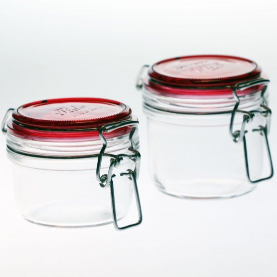 1 x 125ml RED COLLECTION Fido Swing Top Preserving Glass Jar Bormioli Rocco