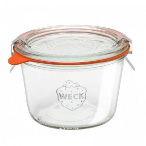1 x 370ml Weck Tapered Canning Jar Complete