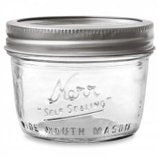 1 x Half Pint 8oz Wide Mouth Jar and Lid Kerr - Single