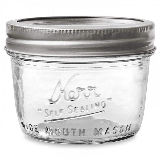 1 x Half Pint 8oz Wide Mouth Jar and Lid Kerr - Single