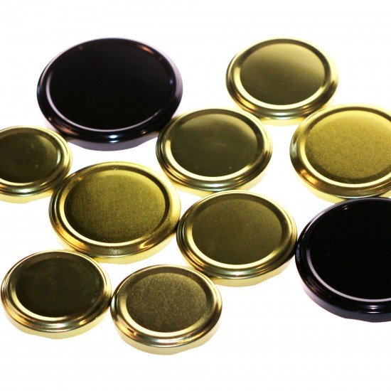10 x NEW assorted sizes twist top lids