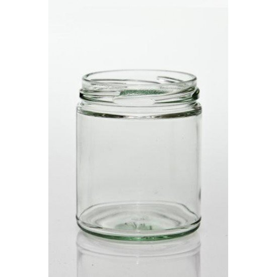 12 x 270ml Round Jar with Straight Sides no lids (R09-01W)