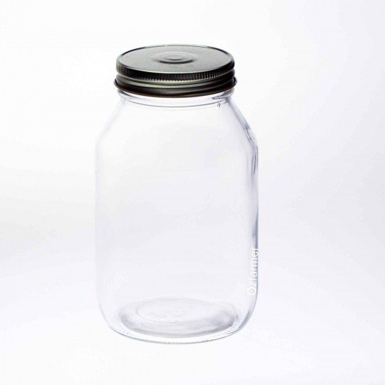 12 x Bell Mason 32 oz Quart Smooth Regular Mouth Jars - Lids Not Included (A32-12C)