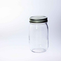 12 x Bell Mason Economy Smooth Pint 16oz Regular Mouth Jars - Lids Not Included