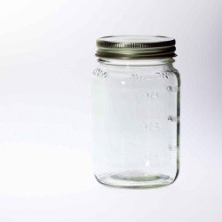 12 x Bell Mason Square  Pint 16 oz Regular Mouth Jars, Lids Not Included