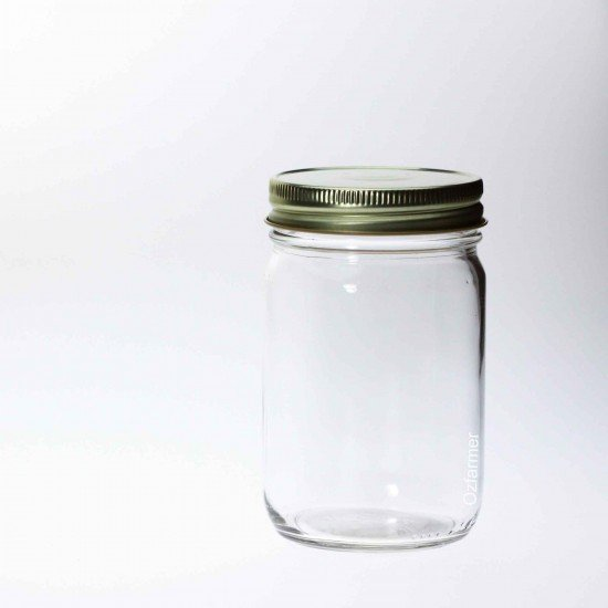 12 x Bell Mason USA 12 oz Smooth Economy Regular Mouth Jars, Lids Not Included