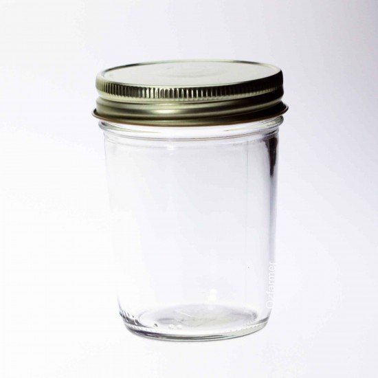 12 x Bell Mason USA Smooth Half Pint 8oz Regular Mouth Jars - Lids not included