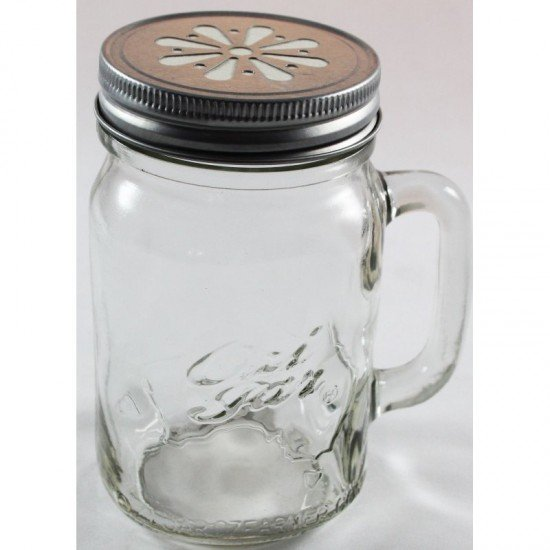 12 x Handle Jars Beer Moonshine Glass Pint Jars (500ml)