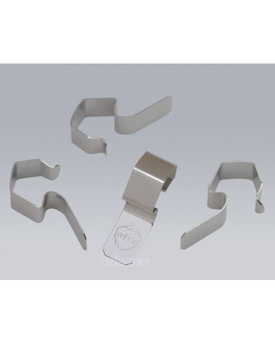 12 x Stainless Steel Clamps Clips Suits All Weck Preserving Jars (weck-clamps)
