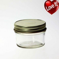 12 x Bell Mason Smooth 120ml 4oz Jam Jelly Wedding Candle Regular Mouth Jars with optional lids