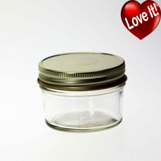 12 x Bell Mason Smooth 4oz Jam Jelly Jars - Lids not included