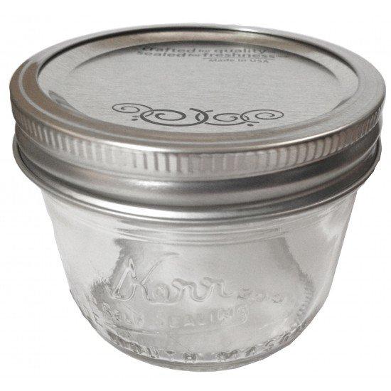 12 x Half Pint 8oz Wide Mouth Jars and Lids Kerr Mason