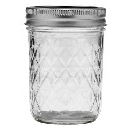12 x Quilted 12oz Jars and Lids Ball Mason