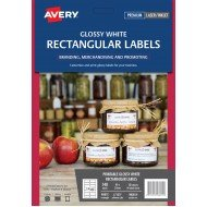 140 x Avery Glossy White Rectangular Product Labels FREE POSTAGE