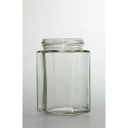 20 x 300ml Hexagonal Slightly Green Jars no lids
