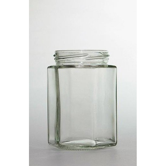 Hexagonal Slightly Green 300ml Jars