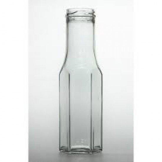 Hexagonal 250mL Preserving Sauce Bottles Box of 21