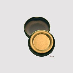 38mm TWIST TOP Lids GOLD