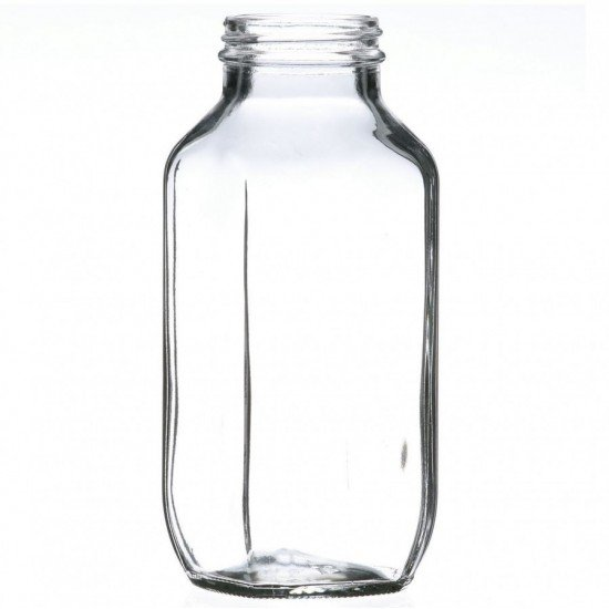 40 x Bell Mason 480ml / 16 oz Dairy French Square Bottles - lids not included (FS16-88C x 40)
