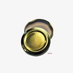 43mm TWIST TOP Lids GOLD