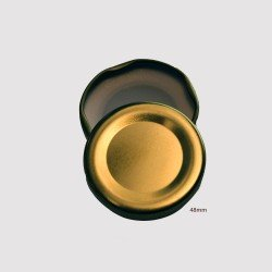 48mm TWIST TOP Lids GOLD