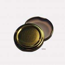 53mm TWIST TOP Lids GOLD