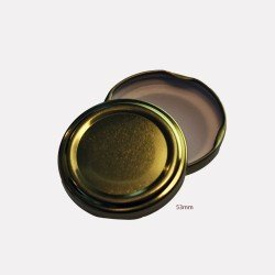 53mm TWIST TOP Lids GOLD