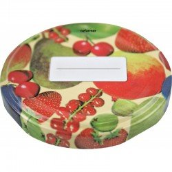 58mm Twist top lids with Fruit Pattern