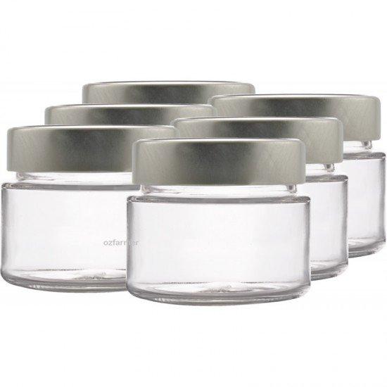 6 x 106ml myRex Glass Preserving Jars