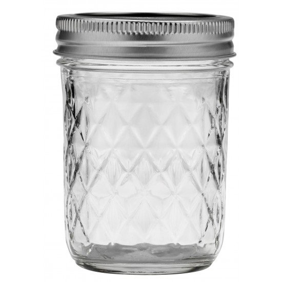 6 x Quilted 12 oz Jars and Lids Ball Mason