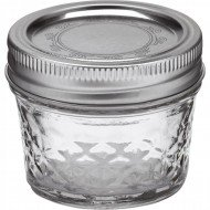 6 x Quilted 4oz Jars and Lids Ball Mason