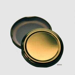 63mm TWIST TOP Lids GOLD EACH