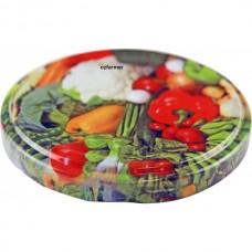 63mm Twist Top Lids with Vegetable Pattern High Heat (VES055)