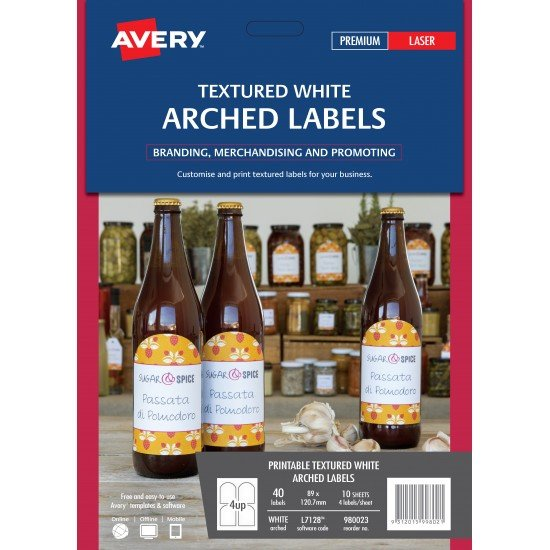 90 x Textured White Arched Labels FREE POSTAGE (Australia Only)