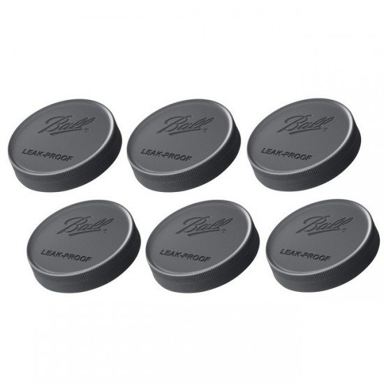 6 x Ball Wide Mouth Leakproof Storage Lids