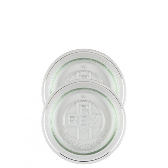 Glass Lid to Suit Weck & Rex Preserving Jars Large, Medium or Small (weck-lid-small)
