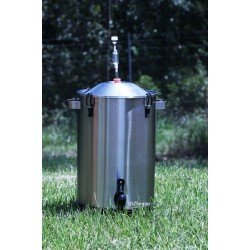 Stainless Steel Fermenter 23L Mangrove Jacks Beer with Bung and Airlock