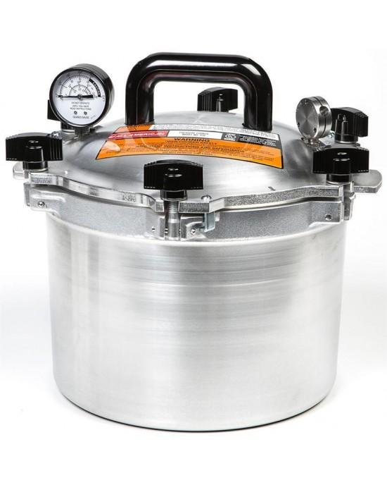 All American 10 Quart (9.5 Litre) Heavy Duty Pressure Canner Pressure Cooker (910)