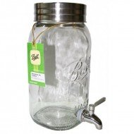 Ball Mason 4 Litre Decorative Drink Dispenser Includes 4 Ozi Handle Jars!