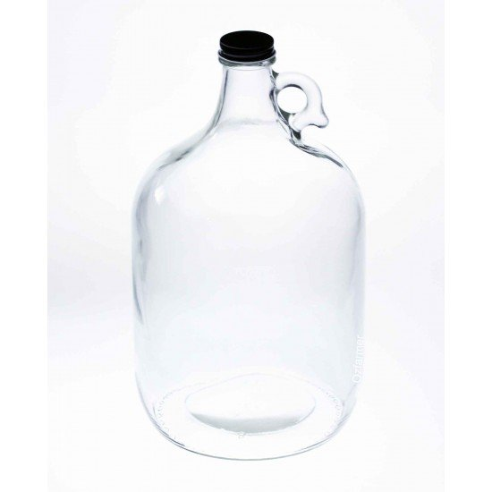 Bell Mason Clear Glass Growler Jar 128oz - Lid not included