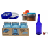 Blue Bottles / Jars Package Deal Free Shipping Australia / New Zealand