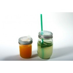 Cuppow Drinking Lid With Ball Mason 750ml Wide Mouth Jar (no straw)