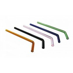 Glass Drinking Straw 9mm Bent