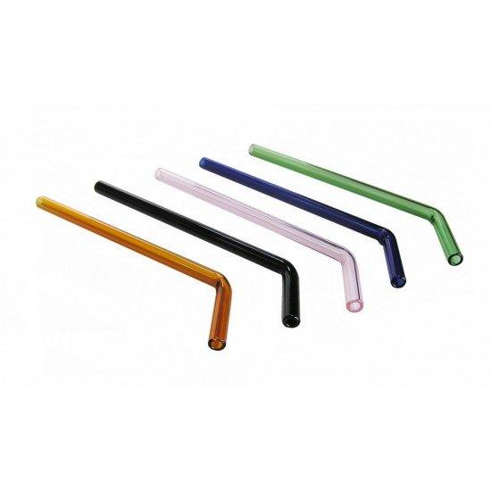 Glass Drinking Straw 9mm Bent