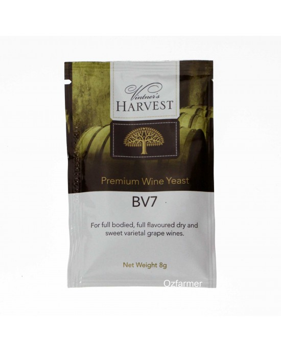 Homemade  Wine Yeast BV7 Full Flavoured Dry Sweet White Wine FREE POSTAGE (Australia Only) (45583)
