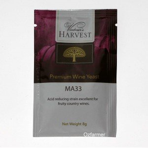 Homemade Wine Yeast  MA33 Fruity White Blush Country Wine.  FREE POSTAGE (Australia Only)